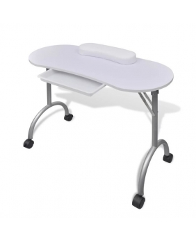 Table manicure pliante blanche
